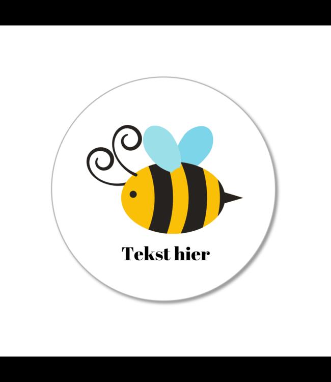 Hieppp Traktatie Stickers Bij - Rond - Personaliseer