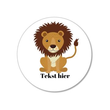 Hieppp Labels Leeuw - Rond - Personaliseer