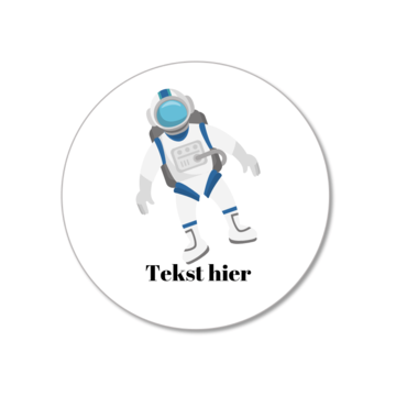 Hieppp Stickers Astronaut - Rond - Personaliseer