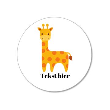 Hieppp Stickers Giraffe - Rond - Personaliseer