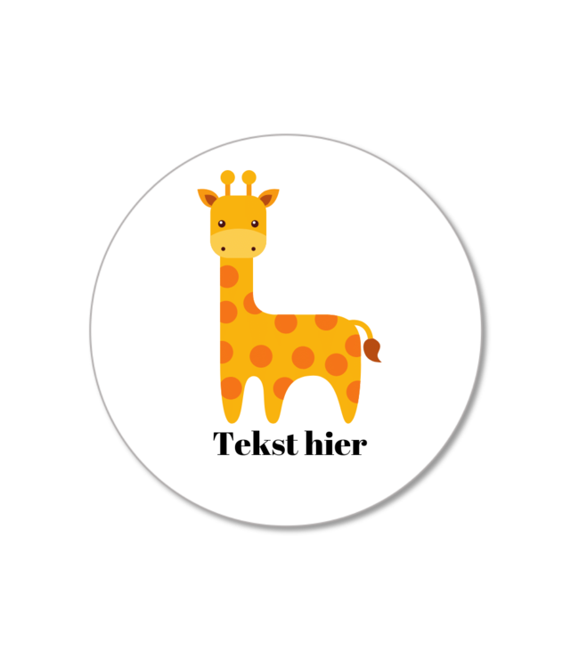 Hieppp Traktatie Stickers Giraffe - Rond - Personaliseer