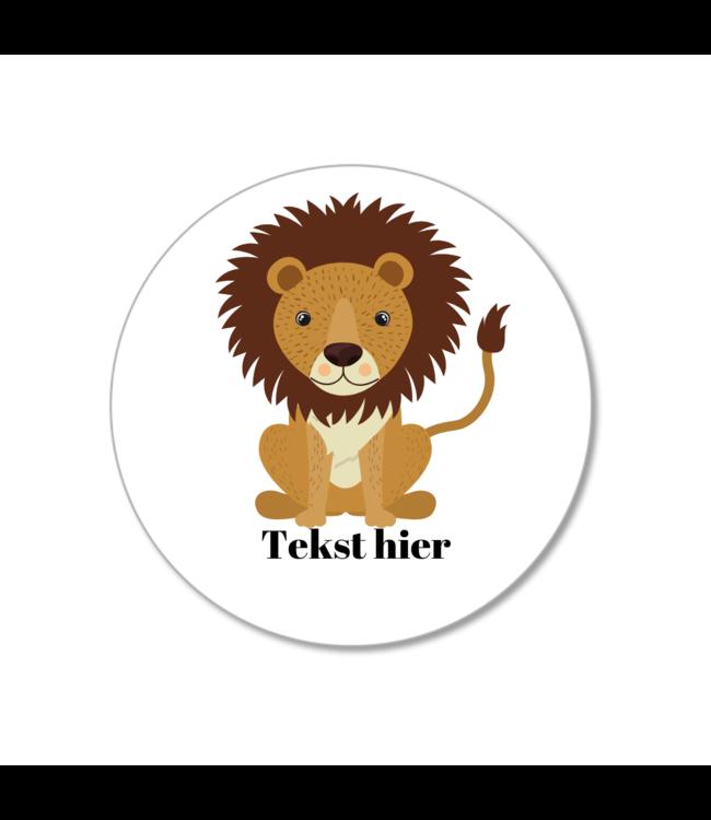 Hieppp Traktatie Stickers Leeuw - Rond - Personaliseer