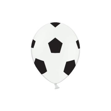 Partydeco Voetbal Ballonnen - 6 stuks - Voetbal feestartikelen