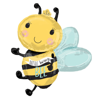 Amscan Bumble bee Folieballon (Supershape) - per stuk - Bij folieballon