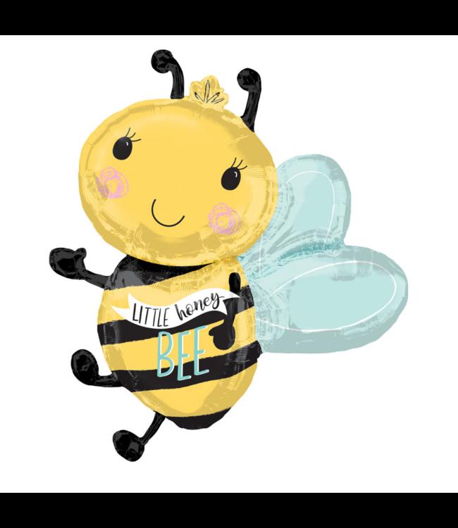 Amscan Bumble bee Folieballon (Supershape) - per stuk - Bij folieballon Little Honey Bee