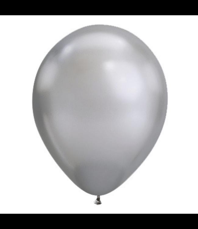 Qualatex Chroom Ballonnen Zilver - 100 stuks - Solid shine ballonnen