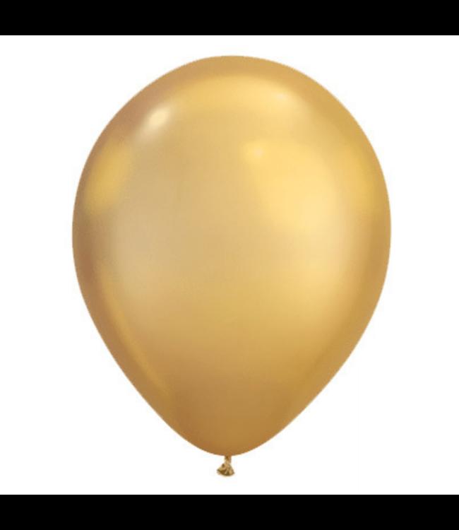 Qualatex Chroom Ballonnen Goud - 100 stuks - Solid shine ballonnen