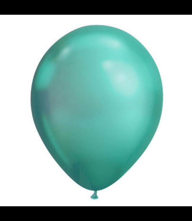 Qualatex Chroom Ballonnen Groen - 100 stuks - Solid shine ballonnen