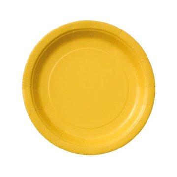 Unique Gele Bordjes - 20 stuks - 18 cm