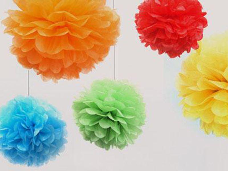 Pom Poms in alle kleuren