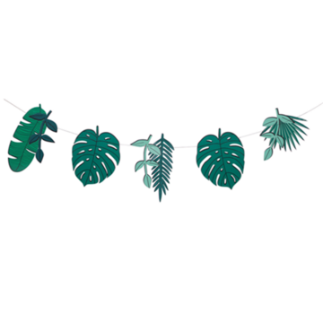 My Little Day Tropical Slinger - per stuk - Monstera en Palmbladeren