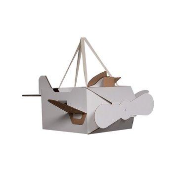 Mister Tody Vliegtuig Inkleur - per stuk - Mister Tody kartonnen speelgoed