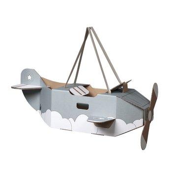 Mister Tody Vliegtuig Mintgroen - per stuk - Mister Tody kartonnen speelgoed