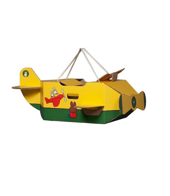 Mister Tody Vliegtuig Nijntje (Miffy) - per stuk - Mister Tody kartonnen speelgoed