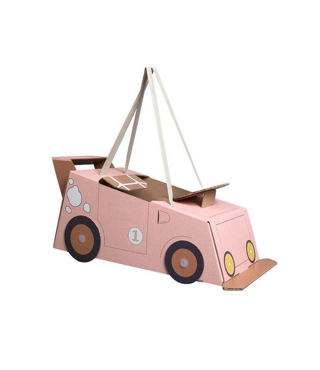 Mister Tody Auto Roze - per stuk - Mister Tody kartonnen speelgoed