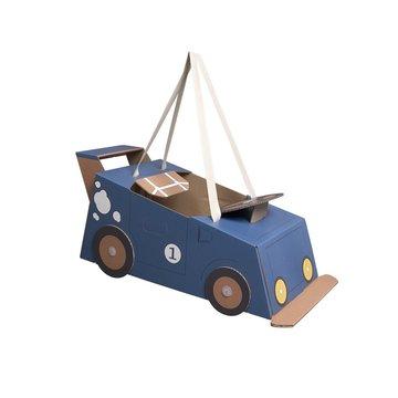 Mister Tody Auto Blauw - per stuk - Mister Tody kartonnen speelgoed