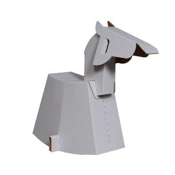 Mister Tody Schommelpaard Inkleur - per stuk - Mister Tody kartonnen speelgoed
