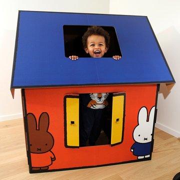 Mister Tody Speelhuis Nijntje (Miffy) - per stuk - Mister Tody kartonnen speelgoed