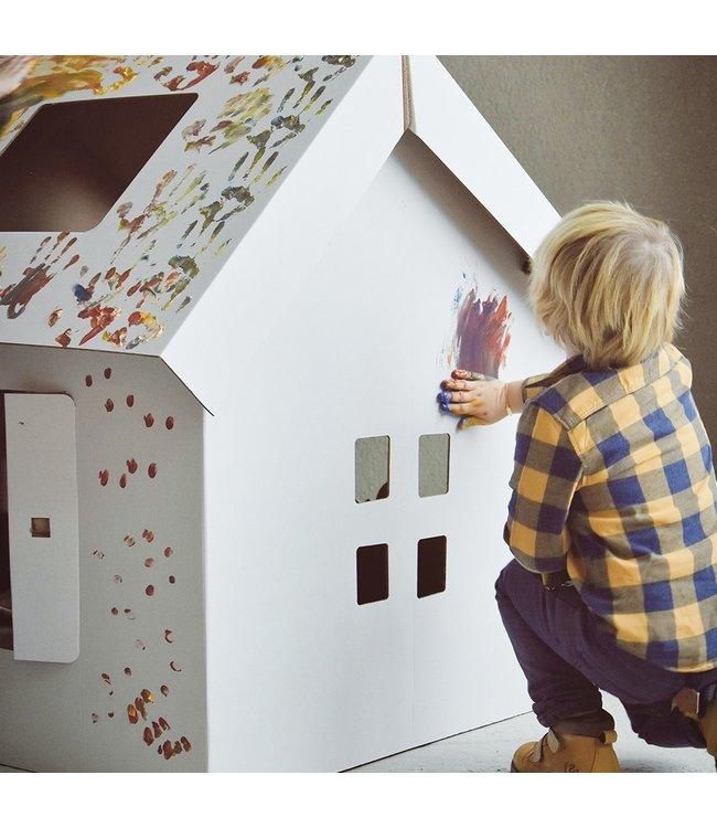 Mister Tody Speelhuis Inkleur - per stuk - Mister Tody kartonnen speelgoed