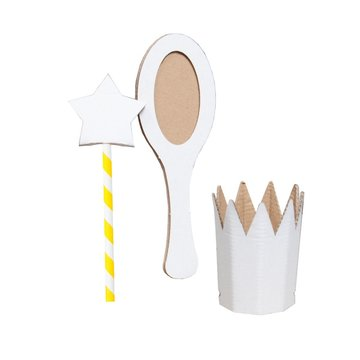 Mister Tody Prinses Knutselpakket Inkleur - per set - Mister Tody kartonnen speelgoed