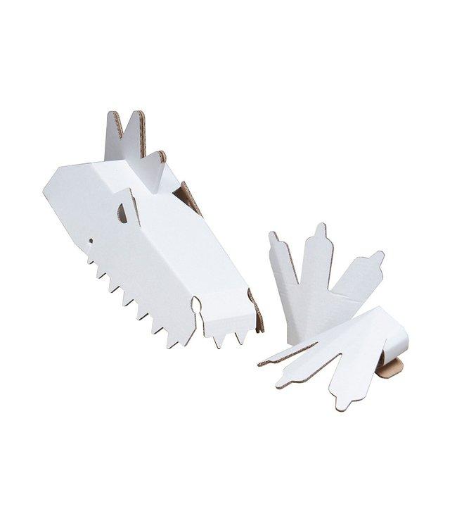 Mister Tody Dino Knutselpakket Inkleur - per set - Mister Tody kartonnen speelgoed