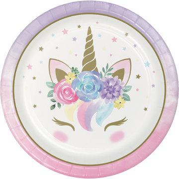 Creative Party Unicorn Borden - 8 stuks - Eenhoorn feestartikelen en versiering