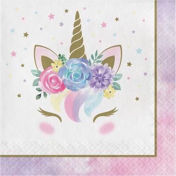 Creative Party Unicorn Servetten - 16 stuks - Eenhoorn feestartikelen en versiering