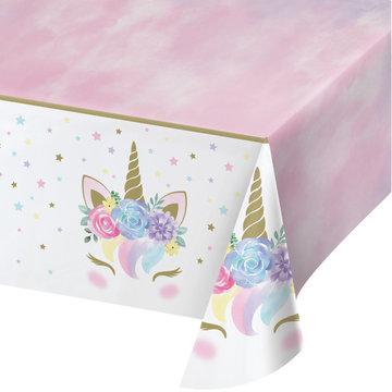 Creative Party Unicorn Tafelkleed - per stuk - Eenhoorn feestartikelen en versiering