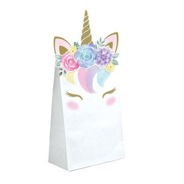 Creative Party Unicorn Uitdeelzakjes - 8 stuks - Eenhoorn feestartikelen en versiering