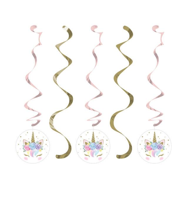 Creative Party Unicorn Hangdecoraties - 5 stuks - Eenhoorn feestartikelen en versiering