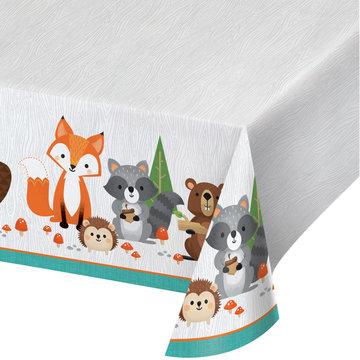 Creative Party Woodland Animals Tafelkleed - per stuk - Bosdieren feestartikelen en versiering