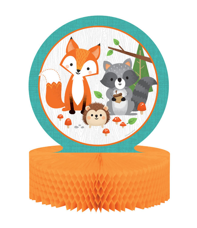 Creative Party Woodland Animals Centerpiece - per stuk - Bosdieren feestartikelen en versiering
