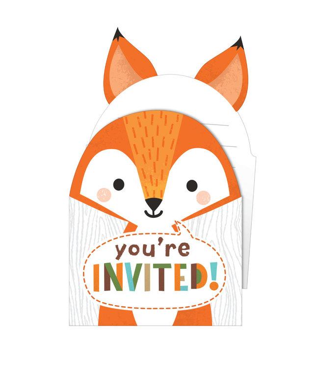 Creative Party Woodland Animals Uitnodigingen - 8 stuks - Bosdieren feestartikelen en versiering