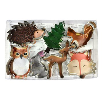Creative Party Woodland Cookie Cutters Kit - Set van 7 - Bosdieren feestartikelen en versiering