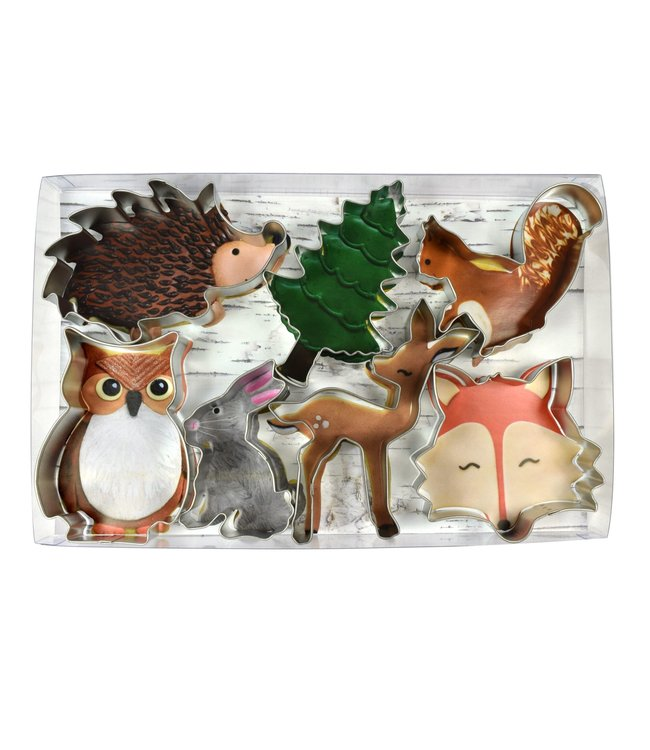 Creative Party Woodland Cookie Cutters Kit - Set van 7 - Bosdieren feestartikelen en versiering