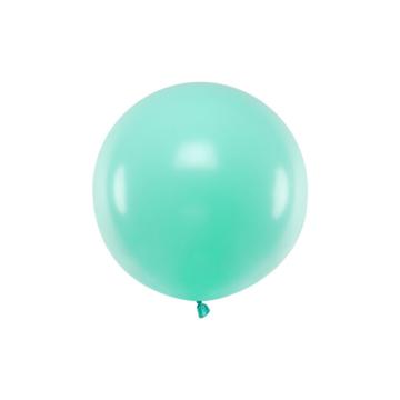Partydeco Jumbo Ballon Pastel Mint - per stuk - Ronde ballonnen 60 cm