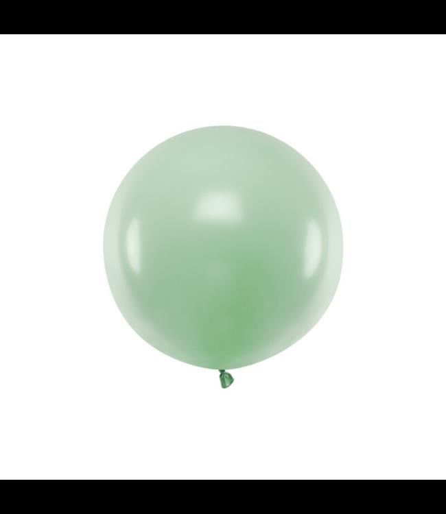 Partydeco Jumbo Ballon Pastel Pistache Groen - per stuk - Ronde ballonnen 60 cm