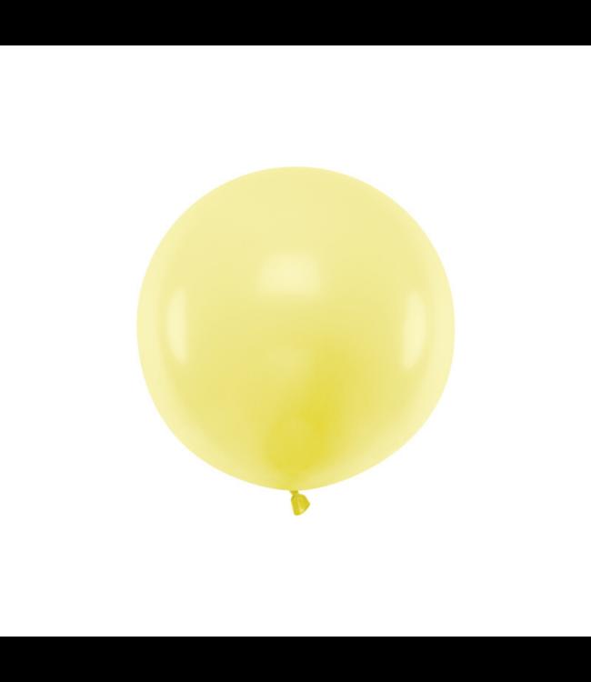 Partydeco Jumbo Ballon Pastel Geel - per stuk - Ronde ballonnen 60 cm