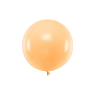 Partydeco Jumbo Ballon Pastel Peach - per stuk - Ronde ballonnen 60 cm