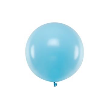 Partydeco Jumbo Ballon Pastel Blauw - per stuk - Ronde ballonnen 60 cm