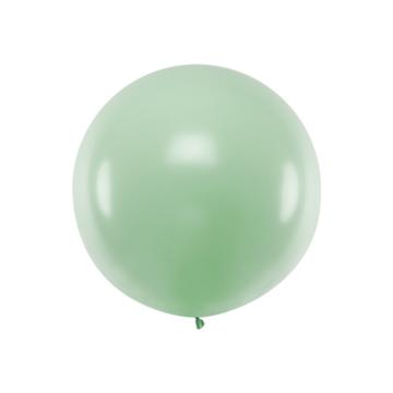 Partydeco Jumbo Ballon Pastel Pistache Groen - per stuk - Ronde ballonnen 100 cm