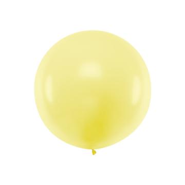 Partydeco Jumbo Ballon Pastel Geel - per stuk - Ronde ballonnen 100 cm