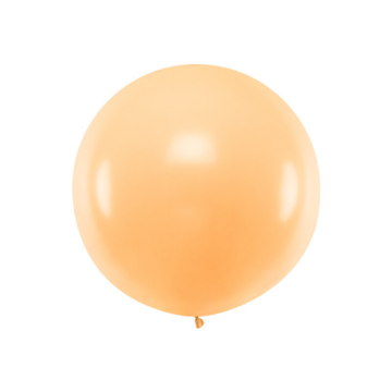 Partydeco Jumbo Ballon Pastel Peach - per stuk - Ronde ballonnen 100 cm