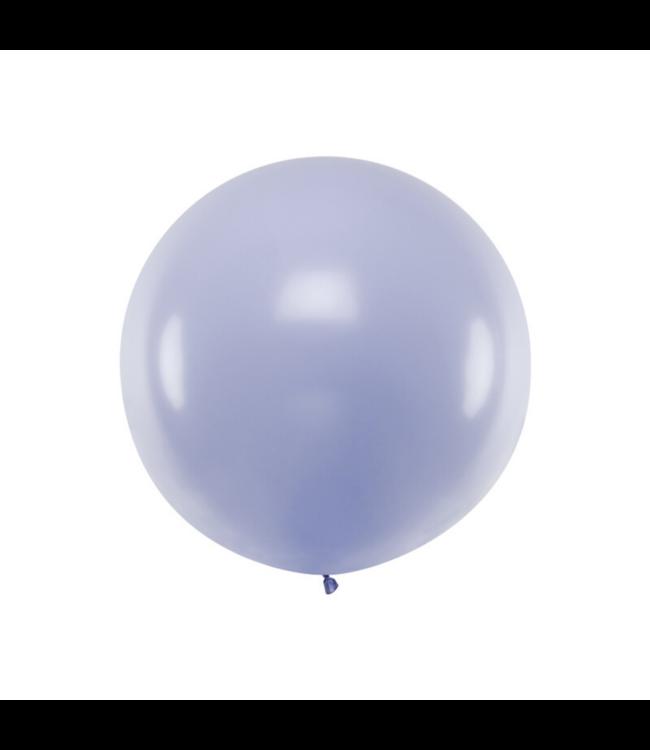 Partydeco Jumbo Ballon Pastel Lila - per stuk - Ronde ballonnen 100 cm
