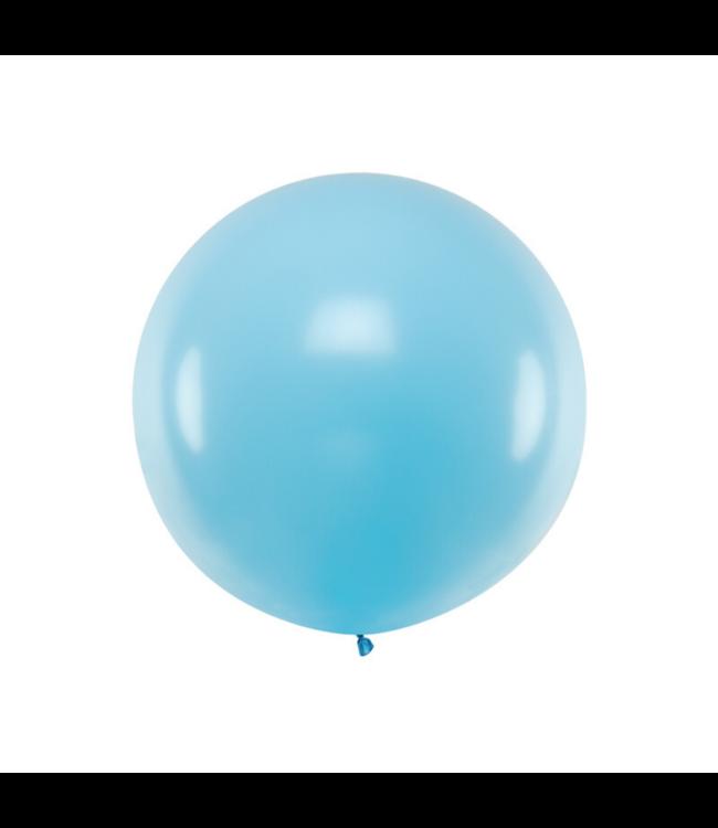 Partydeco Jumbo Ballon Pastel Blauw - per stuk - Ronde ballonnen 100 cm