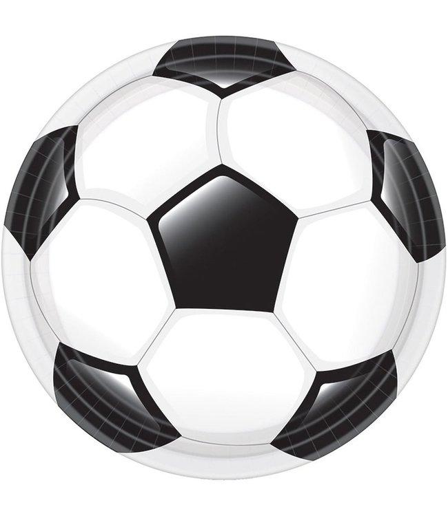 Amscan Voetbal Borden - 8 stuks - Voetbal feestartikelen