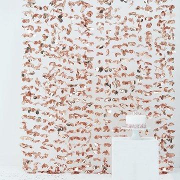 Ginger Ray Feestgordijn Bloemen Roségoud - per stuk - Deurgordijn en backdrop versiering
