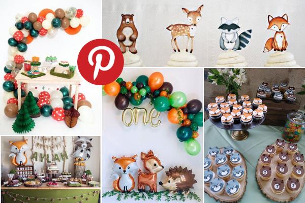 Woodland feestje inspiratie Pinterest
