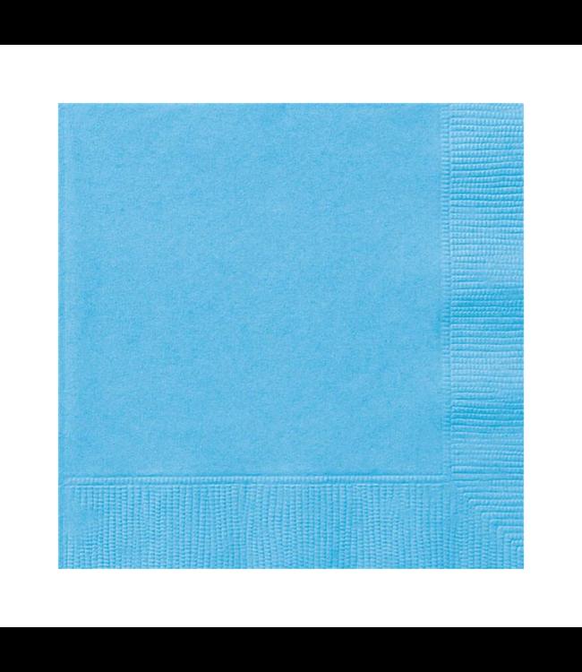 Unique Lichtblauwe Servetten - 20 stuks