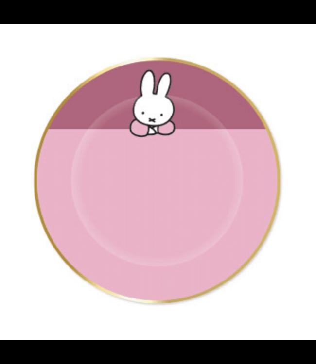 Haza Nijntje Baby Roze Bordjes - 8 stuks - Feest met nijntje